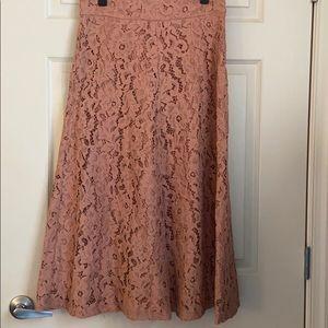 Zara long lace skirt